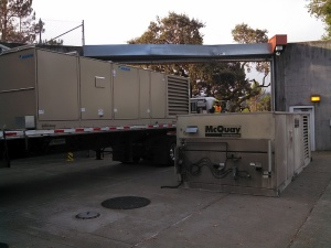 Out with the  old McQuay  unit and in with the new Daikin unit.
