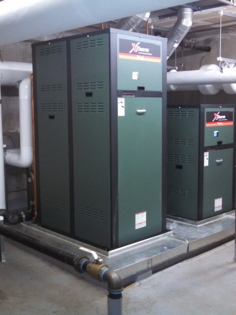 The two Raypak XTherm Boilers now serving the Corte Madera Town Center