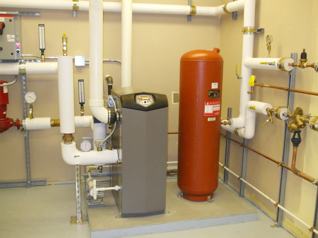 Hot Water Heating Boiler Installation